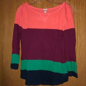 Multi colored light weight sweater